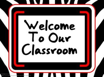 Classroom Set- ZEBRA (red)