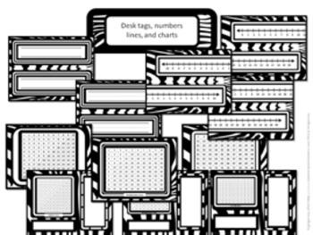 Classroom Set- Zebra Print (Black and White)