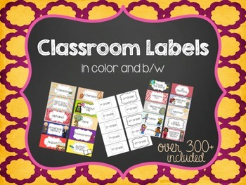 Classroom Set of Labels 2x4 - Color and B/W { Avery Label #8163 }