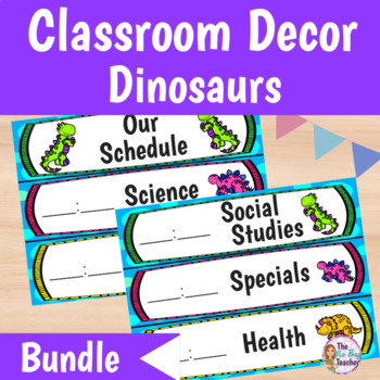 Classroom Decor Bundle Dinosaur Theme