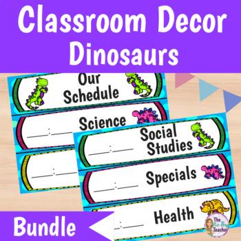 Classroom Decor Bundle Dinosaur Theme