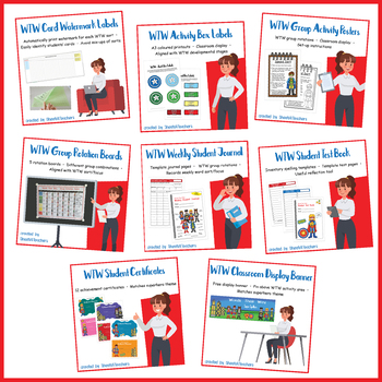 Classroom Set-up BUNDLE for Words Their Way (Superhero)