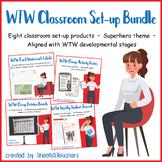 Classroom Set-up BUNDLE for Words Their Way (Superhero)