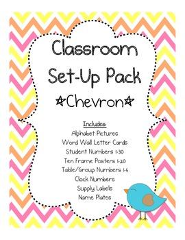 Classroom Set-up Pack *Chevron*