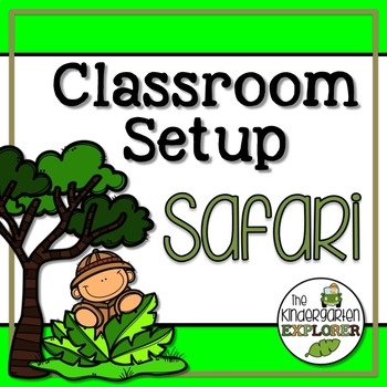 Classroom Set-up Pack *Safari*