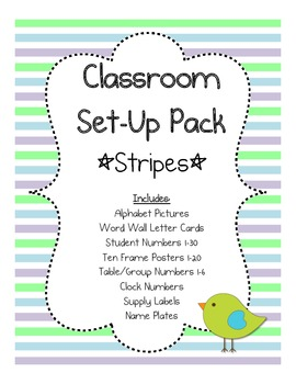 Classroom Set-up Pack *Stripes*