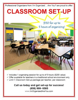 Classroom Set-up from Professional Organizers
