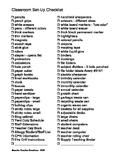 Classroom Setup Checklist