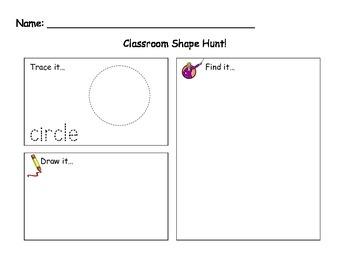 Classroom Shape Hunt