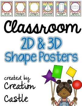 Classroom Shape Posters - 2D and 3D