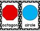 Classroom Shapes Posters: Black & White Polka Dots FREEBIE