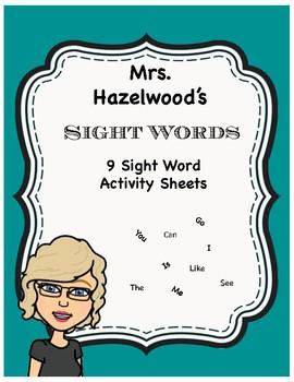 Classroom Sight Words Prek & Kindergarten