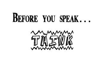 Classroom Sign: Before You Speak