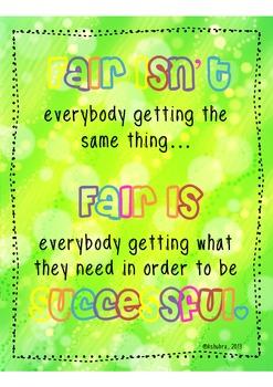 Classroom Sign: Fair Is