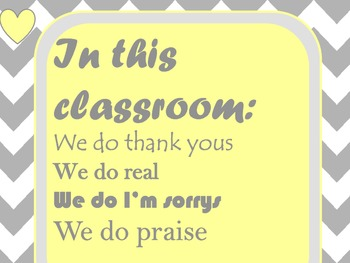 """Classroom Sign """"In this classroom"""""""
