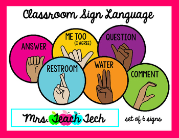 Classroom Sign Language By MrsTeachTech