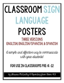 Classroom Sign Language Posters