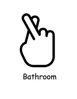 Sign Language Bathroom Water Sign Worksheets Teaching Resources