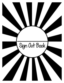 Classroom Sign Out Book
