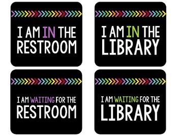 Classroom Sign Out Bulletin Board Kit