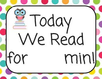 Classroom Sign Reading Log