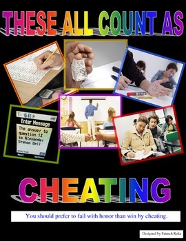 Classroom Sign: What constitutes as cheating