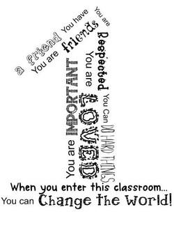 Classroom Sign | When you enter this classroom K-5