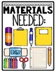 Classroom Sign and Materials Needed Visual