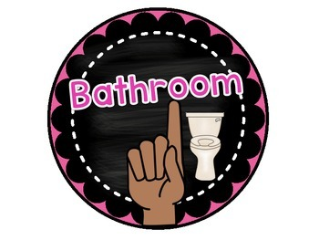Classroom Signals for Bathroom, Drink, and Tissues