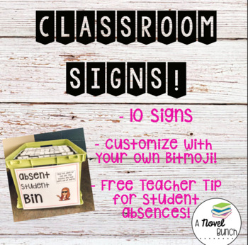 Classroom Signs!