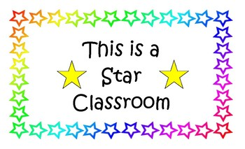 Classroom Signs 5 Sets with 13 Signs in Each Set Nice Large 8 1/2 X 14 Size PDF