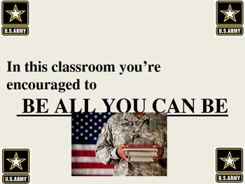 Classroom Signs All Grades Military Camo Theme army navy i