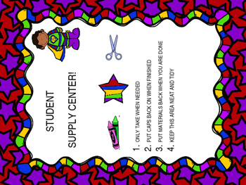 Classroom Signs & Binder Cover ~ Superhero