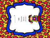 Classroom Signs & Binder Cover ~ Superhero