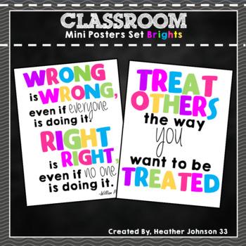 Classroom Signs: Bright Colors