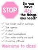 Classroom Signs - Do you have all the things you need?