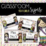 Classroom Signs: Editable