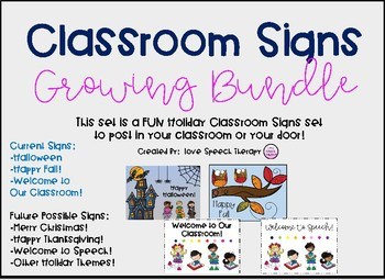 Classroom Signs Growing Bundle - Variety Pack
