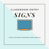 Classroom Signs - Morning Routien