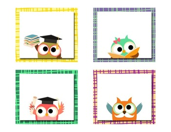 Classroom Signs - Owl Theme