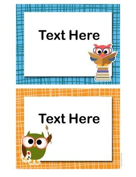 Classroom Signs - Owl Theme
