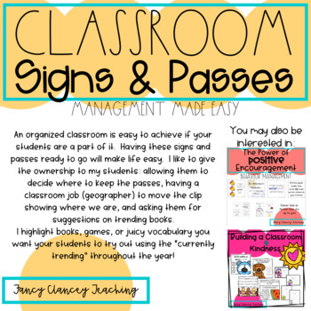 Classroom Signs & Passes