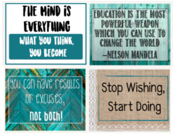 Classroom Signs Set of 4