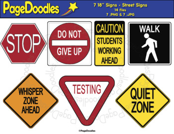 Classroom Signs, Street - High Quality Vector Graphics