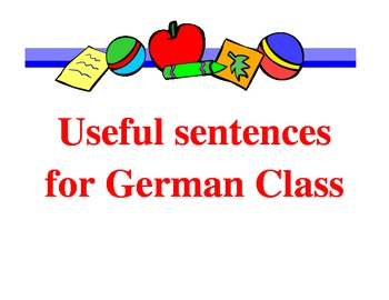 Classroom Signs:  Useful phrases for German class