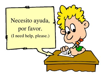 Classroom Signs:  Useful phrases for Spanish class