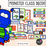 Classroom Signs and Calendar - Monster Style (with Editabl