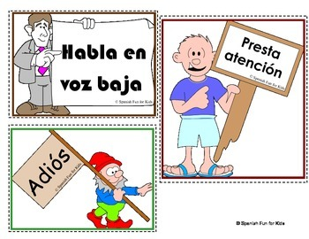 Classroom Signs and Commands in Spanish