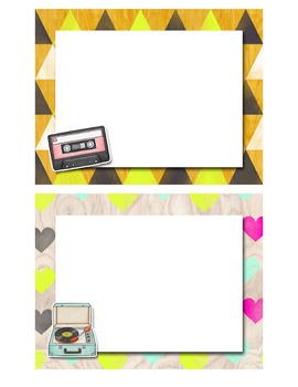 Classroom Signs and Headers - Retro Theme