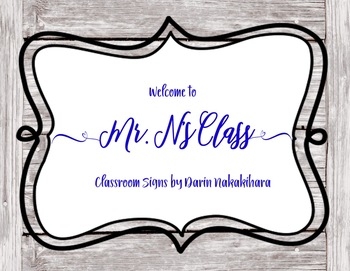 Classroom Signs and PowerPoint backgrounds